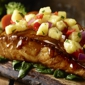 LongHorn Steakhouse. Order our Grilled Hawaiian Salmon brushed with a sweet ginger-garlic soy sauce, then topped with fresh pineapple salsa.