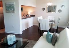 Jacaranda Village Apts - Plantation, FL. Living Room and Dining Area