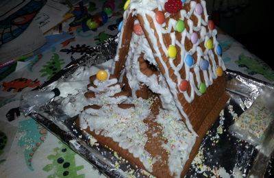 Trader Joe's - Burbank, CA. Trader Joe's Gingerbread House Kit! It comes with little people and a dog too! (Not in picture)