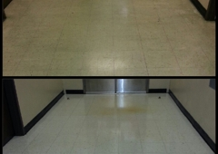 Daval Building Maintenance & Carpet Cleaning - Hanford, CA. Before and after