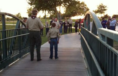 Boy Scouts Of America Council Hdqutrs - Bakersfield, CA. My son bridging over to Boy Scouts