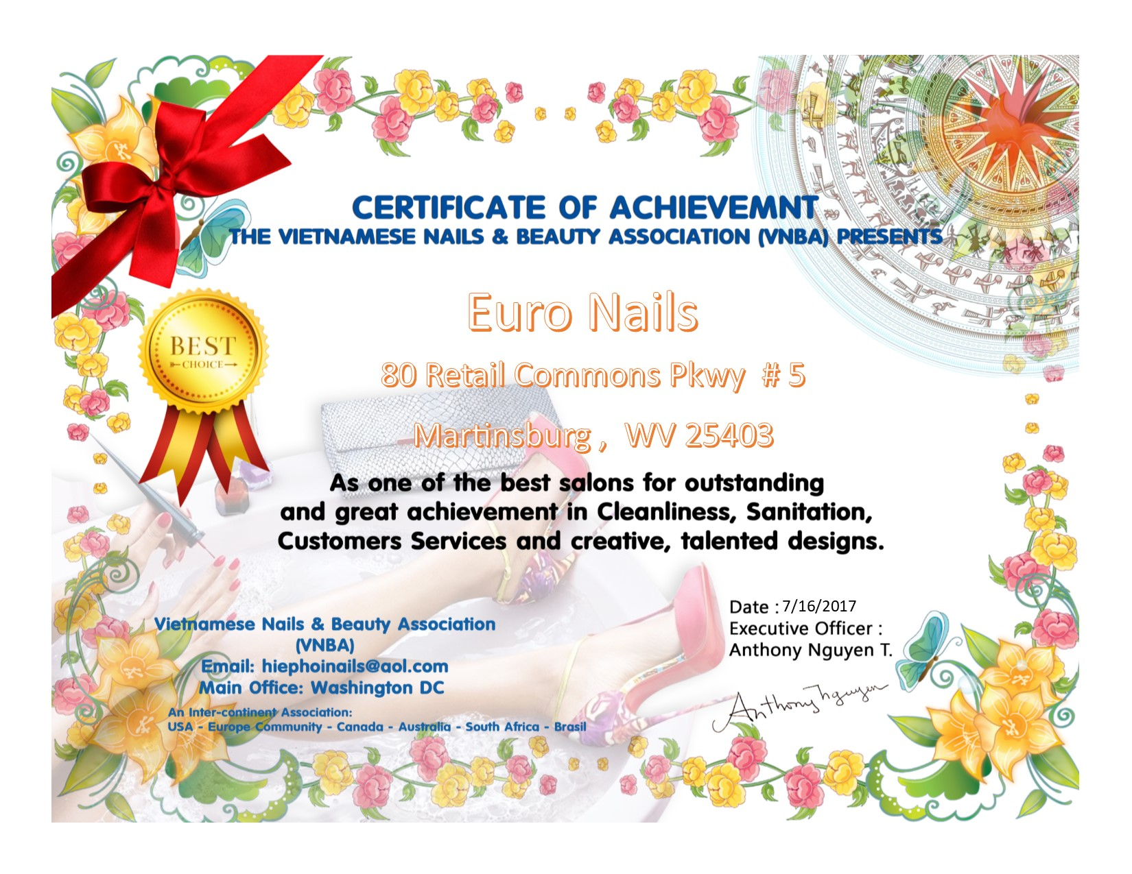 Euro Nails 80 Retail Commons Pkwy, Martinsburg, WV 25403 - YP.com