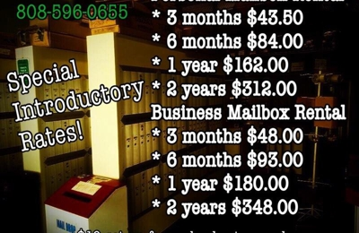 Hawaii Mail Box Service - Honolulu, HI. Awesome introductory prices