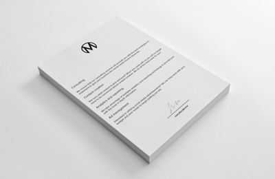 Amberd Design Studio - Los Angeles, CA. The Mellbe Letterhead