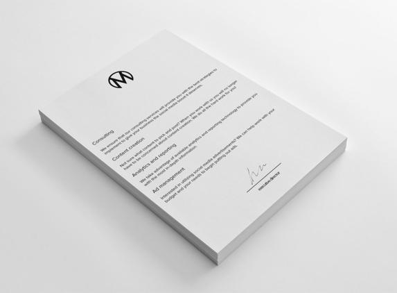 Amberd Design Studio - Los Angeles, CA. The Mellbe Letterhead