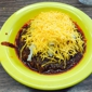 Chili John's - Burbank, CA. Spicy beef chili with cheese and onions
