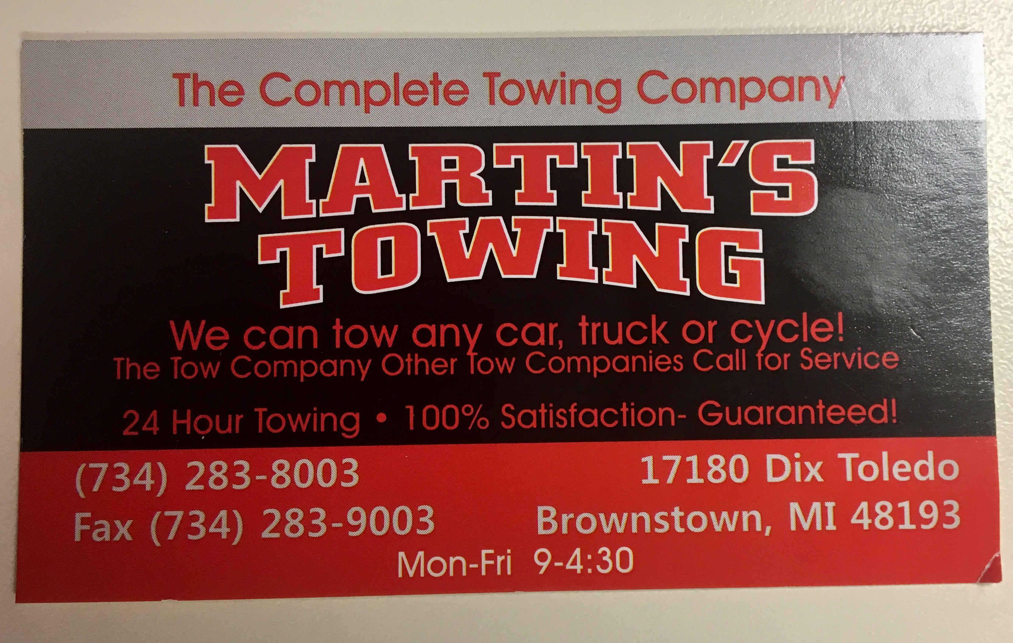 Martin\'s Towing & Used Auto Parts 48183 - YP.com