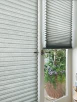 Custom Door Dining Room shades and blinds by Benjamin Draperies