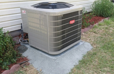 Riverside Heating & Air Conditioning. High efficient install. Bryant is ranked the highest in quality by consumers reports.