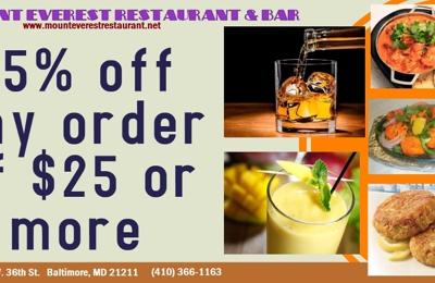 Mount Everest Restaurant & Bar - Baltimore, MD