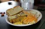 Pork Belly Confit. Served with Eggs, Hashbrowns and Homemade Toast. Only at Nonnies Breakfast Barn. A Restaurant In Charleston Oregon.