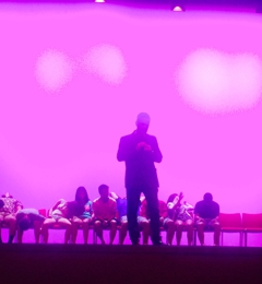 Matthews Arena - Boston, MA. Magician/Hypnotist Dave Hall - so funny!