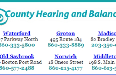 County Hearing and Balance - Waterford, CT
