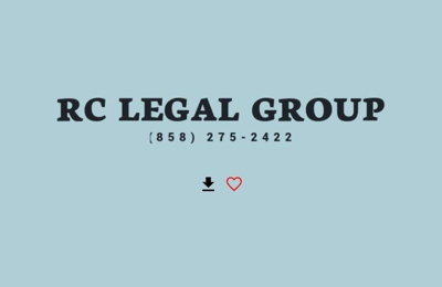 RC Legal Group - San Diego, CA. filing bankruptcy chapter 7