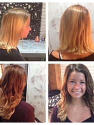 Before and after!!! Full head of keratin fusion extensions and a beautiful boliage to top it all off!