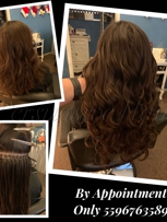 """20"""" Nano Hair Extensions full head with blending cut and style.. total price $400"""