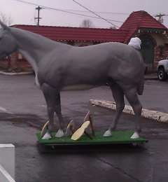 Bothell Feed Center - Bothell, WA. This is a photo of the Bothell Feed Center's horse mascot, all dressed up for Easter.