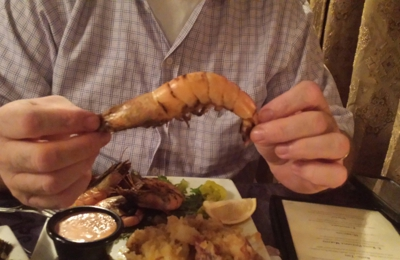Knotty Pine on the Bayou - Newport, KY. Yes, that really is a shrimp!