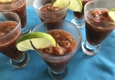 Bliss Caterers - Kennebunk, ME. Gazpacho Shooters