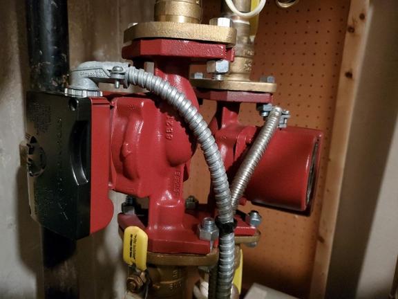 JP Heating & Cooling. High Efficiency Circulator Pump Installation
