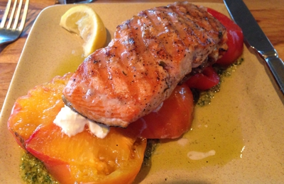 Legal Sea Foods - Boston, MA. Salmon on capressi salad