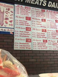 Selections of Meat and Seafood that the pricing is very inexpensive. I bought the 9-A special.