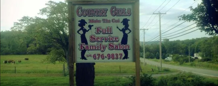 Salon sign out front :)