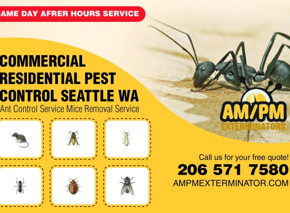 Ampm Exterminators Seattle - Seattle, WA. Pest control near me