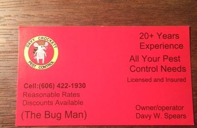 Davy Crockett Pest Control Llc 230 Mullins School St Pikeville