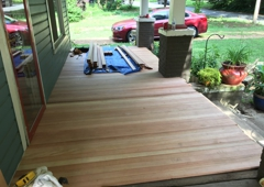 McGee Lumber Co of Charlotte. The rebuilding of an old porch in Plaza/Midwood