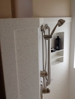 Solid Surface Shower Walls with Soap Box