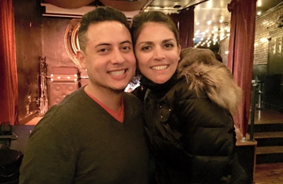 American Movie Company - New York, NY. Mike GONZALEZ on set with Cecily Strong