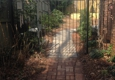 Morales Landscaping Pinestraw Services - Landscaping, Design, & Tree Service, SC. New paver walkway joined into existing brick (timber retaining wall in background)