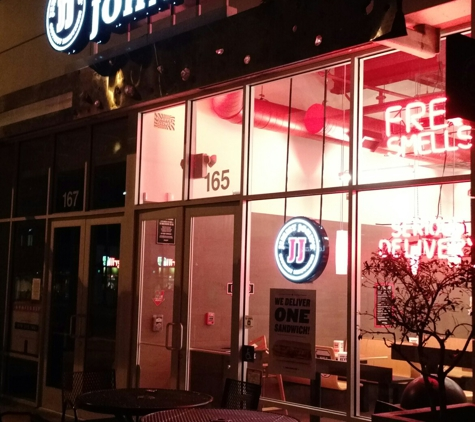 Jimmy John's - Pasadena, CA. Outside at night
