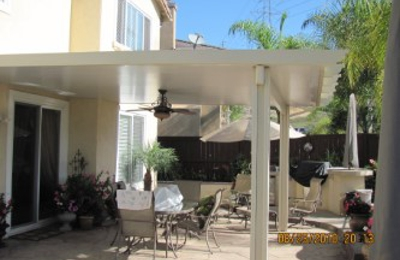 Discount Patio Covers   Lakeside, CA. Aluminum Residential Solid White Patio  Cover