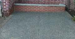 Higgins Cement - Philadelphia, PA. exposed aggregate concrete Iroquois West Limestone tops