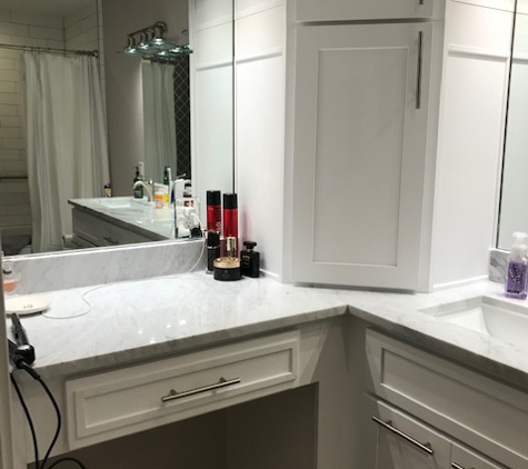 Tell-Projects - Houston, TX. Master Bath Makeup Area