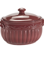 Stoneware Bean Pots from Celebrating Home Direct are oven, microwave, and dishwasher safe.