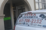 Extra Locksmith Van outside of Store In fort Worth
