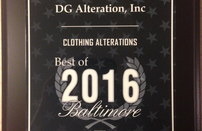 DG Alteration, Inc. - Baltimore, MD
