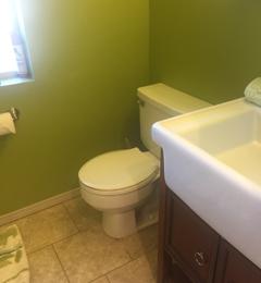 Benefit Plumbing - Roland, OK. Toilet seal fixed bathroom clean.