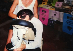 Kathleen Therapeutic Massage - Los Angeles, CA. On-site chair massage for businesses and film productions.