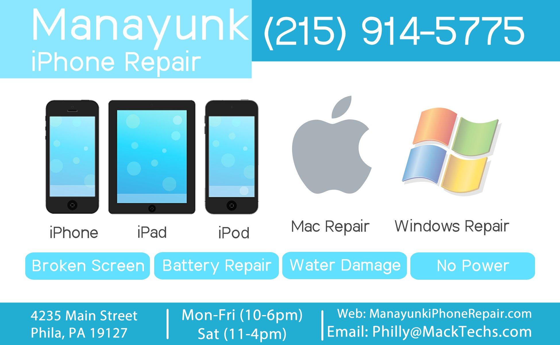 Manayunk Iphone Repair 4235 Main St Philadelphia Pa 19127 Yp