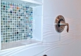 Bentz Remodeling - Tallahassee, FL. Shower Niche with Glass Mosaic