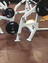 Weights no where to be found.