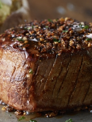 Our grilled center-cut filet with hickory salt seasoning.