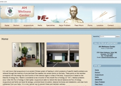 Grace Computer & Internet Corp. - Houston, TX. Grace Computer web design for AH Wellness Center