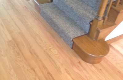 Creative Interiors LLC - Canterbury, CT. Undercutting at existing staircase by owner, Ed Audet