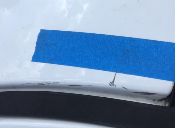 Joey's Glass Co - Baytown, TX. F-150 paint damage, no rust
