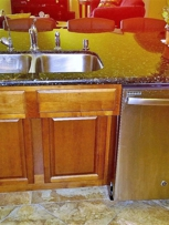 Recessed sink cabinet